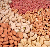 Assorted nuts background — Stock Photo