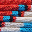 Stockfoto: Stack of knitted closeup