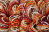 Closeup of a colorful yarns — Foto Stock