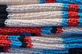 Stack of knitted closeup — Stock Photo