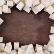 Stock Photo: Frame of refined sugar
