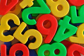 Colorful plastic numbers — Foto de Stock