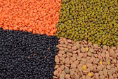 Mixture of dried lentils and beans — Stock Photo