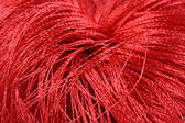 Red threads close-us — Stock Photo