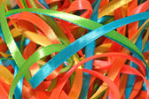 Colorful ribbons close up — Foto de Stock