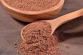 Cocoa powder in a spoon — Стоковое фото