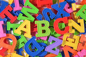 Plastic colored letters ABC — Stock Photo