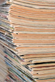 Stack of old magazines — Stock Photo