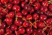 Red cherries background — Stockfoto