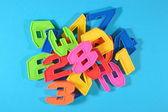 Colorful plastic numbers — ストック写真