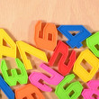 Plastic colored numbers — Stock Photo #51217013