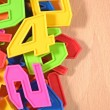 Plastic colored numbers — Stock Photo #51217021