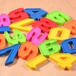 Plastic colored numbers — Stock Photo #51217049