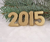 2015 year golden figures — Foto Stock