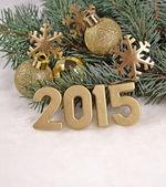 2015 year golden figures — Stock Photo