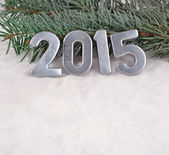 2015 year silver figures — Stock Photo