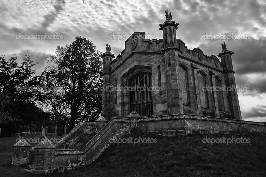 The mausoleum of William, Second Earl of Lowther, in the graveyard of St Michael's Church, Lowther, Cumbria, England UK — Stock Photo #13196132