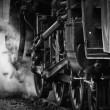 Stock Photo: Wheels of steam engine