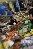 Fruit and vegetables on a stall — Stock Photo