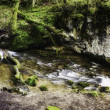 Panoramic background view of a scenic stream — Stock Photo