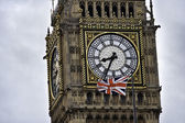 Clock on Big Ben, London, England — Stock Photo