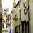 Stock Photo: Alley with bazaar bunting