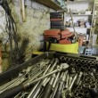 Stock Photo: Garage interior with variety of tools