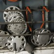 Stock Photo: Wheel hubs assortment