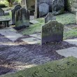 Stock Photo: Rustic Churchyard and gravestones