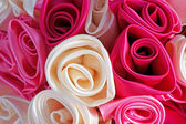 Roses made from fabric — Stock Photo