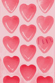 Hearts texture background — Stock Photo