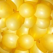 Yellow balloons — Stock Photo