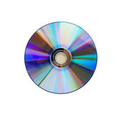 Blank CD glare on the white background — Stock Photo