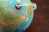 Part of a globe — Stock Photo