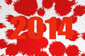 New 2014 year red figures — Stock Photo