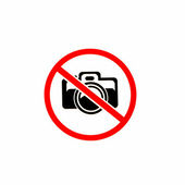No photography allowed on white background — Stock Photo
