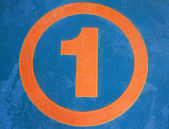 "Detail of orange ""number one"" — Foto de Stock"