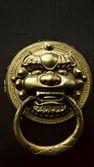 Antique oriental door knocker — Stock Photo