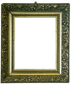 Antique look gold color picture frame — Stock Photo