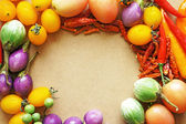 Colorful vegetable frame — Stock Photo