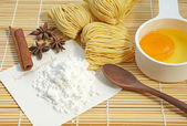 Homemade noodle, selective focus. — Stock Photo