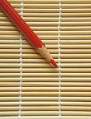 Crayon de couleur rouge — Photo