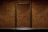 Old grunge interior frame against wall — Stock Photo