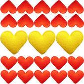 Muchos corazones de fondo — Foto de Stock