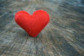 Heart for love, on wooden background — Foto Stock