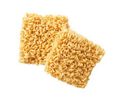 Block of Instant noodles on a white background — Stock Photo