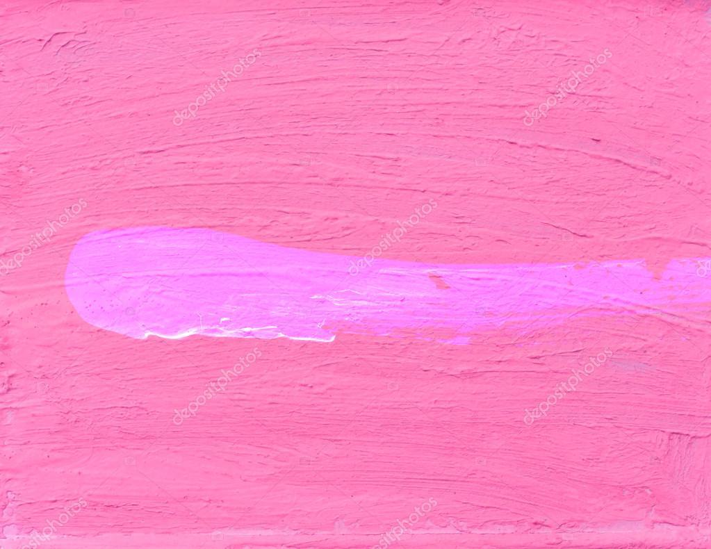 배경에 대 한 분홍색 벽에 페인트 스트로크 브러쉬 — 스톡 사진 ...