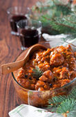 Braised oxtails — Stock Photo