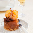 Mini vanilla apple tarte tatin, selective focus — Stock Photo