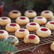 Almond biscuits with jam filling, selective focus — Stock Photo #14563751